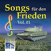 Cover der CD Songs fuer den Frieden Vol.01